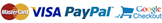 Pay by card, PayPal or Google Checkout