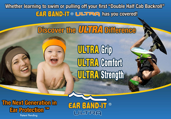 Ear Band-It ULTRA Swim Headband Ear Protection