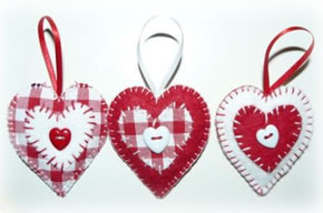Handmade Heart Christmas Tree Decorations
