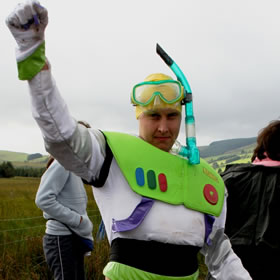 World Bog Snorkelling Championships 2010 Buzz Light Year